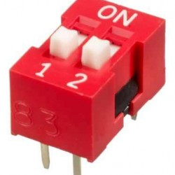 2 li Dip Switch 2.54mm ON-OFF