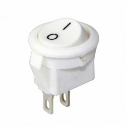 20mm On-Off Power Switch Anahtar 2P - BEYAZ