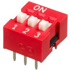 3 lü Dip Switch 2.54mm ON-OFF