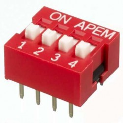 4 lü Dip Switch 2.54mm ON-OFF