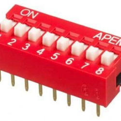 8 li Dip Switch 2.54mm ON-OFF