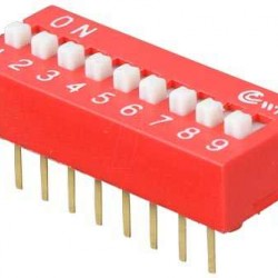 9 lu Dip Switch 2.54mm ON-OFF