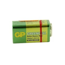 9V Kare Pil 9 volt GP Greencell 1604GLF
